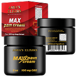 Max Pain Cream, 3oz: CBD Hemp Oil, 35+ Essential Oils, Whipped Shea Butter Cream
