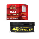 Max Pain Cream, 1/2 oz: CBD Hemp Oil, 35+ Essential Oils, Whipped Shea Butter Cream
