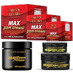 Max Pain Cream; 1oz, CBD Hemp Oil, 35+ Essential Oils, Whipped Shea Butter Cream
